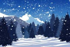 Bosque del invierno ilustración del vector