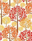 Bosque del otoño. Fondo inconsútil. Fotografía de archivo