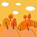 Bosque del otoño inconsútil Fotografía de archivo libre de regalías