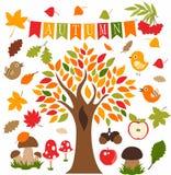 Bosque del otoño, sistema, icono, pictograma, vektor foto de archivo libre de regalías