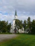 Bosque del paisaje de Noruega en la costa Imágenes de archivo libres de regalías