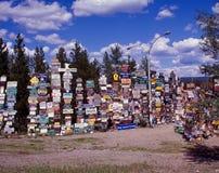 Bosque del poste de muestra Fotos de archivo