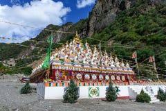 Bosque del stupa en el condado de Xinlong Imágenes de archivo libres de regalías