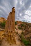 Bosque del suelo de Yuanmou, la ejecución de la naturaleza Foto de archivo libre de regalías