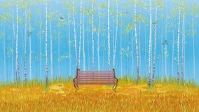 Bosque do vidoeiro ilustração stock