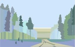 Bosque, el paisaje duro del parque nacional foto de archivo libre de regalías
