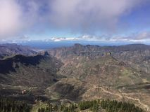 Bosque en Gran Canaria, España Foto de archivo libre de regalías