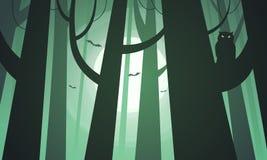 Bosque espeluznante ilustración del vector