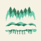 bosque libre y moutain Imágenes de archivo libres de regalías