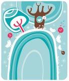Bosque mágico del invierno. stock de ilustración