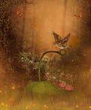 Bosque mágico del otoño ilustración del vector