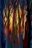 Bosque místico del ejemplo Foto de archivo libre de regalías