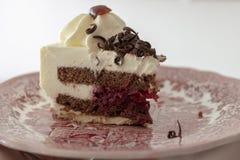 Bosque negro, una torta alemana tradicional con el licor de la cereza imágenes de archivo libres de regalías