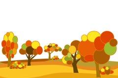 Bosque plano del otoño del vector Imagen de archivo