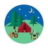 Bosque que acampa y que camina imágenes de archivo libres de regalías