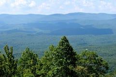 Bosque que confina las montañas apalaches Fotografía de archivo libre de regalías