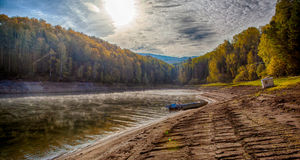 Bosque siberiano en otoño Fotografía de archivo libre de regalías