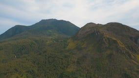 Bosque tropical en las montañas Isla Filipinas de Camiguin almacen de video