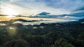Bosque y montañas de Puebla Imagen de archivo libre de regalías