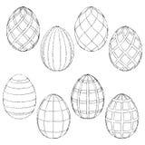 Bosqueja los huevos de Pascua hechos a mano para colorear Ilustración del vector libre illustration