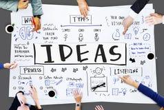 Bosquejar concepto visual de las ideas de la escritura del diseño de las notas Imagen de archivo libre de regalías