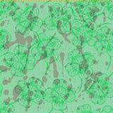 Bosqueje el trébol, modelo inconsútil del vector, symbo del día de St Patrick Imagen de archivo