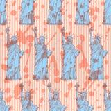 Bosqueje la estatua de la libertad, modelo inconsútil del vector Imágenes de archivo libres de regalías