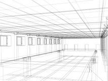 bosquejo 3d de un interior Imágenes de archivo libres de regalías