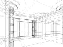 Bosquejo abstracto arquitectónico stock de ilustración