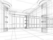 Bosquejo abstracto arquitectónico ilustración del vector