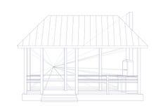 Bosquejo arquitectónico ilustración del vector