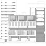 Bosquejo arquitectónico abstracto del dibujo, ejemplo stock de ilustración