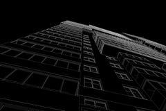 Bosquejo arquitectónico del edificio stock de ilustración