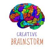 Bosquejo colorido del VECTOR creativo del intercambio de ideas en blanco Fotografía de archivo libre de regalías