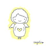 Bosquejo con ángel lindo Imagen de archivo libre de regalías