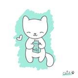 Bosquejo con el gatito Imágenes de archivo libres de regalías
