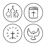 Bosquejo cristiano del símbolo Fotos de archivo
