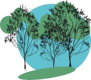 Bosquejo de árboles Imagen de archivo libre de regalías