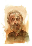 Bosquejo de Fidel Castro Foto de archivo
