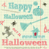 Bosquejo de Halloween Fotos de archivo libres de regalías