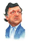 Bosquejo de Jose Manuel Barroso Imágenes de archivo libres de regalías
