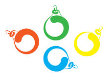 Bosquejo de la carta blanca de las bolas de la Navidad Foto de archivo libre de regalías