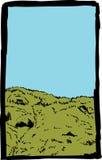 Bosquejo de la colina en Suecia ilustración del vector