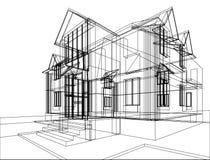 Bosquejo de la construcción de la casa libre illustration