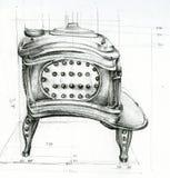 Bosquejo de la estufa Imagen de archivo libre de regalías