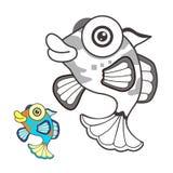 Bosquejo de la historieta de los pescados imagenes de archivo