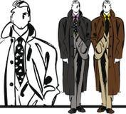 Bosquejo de la ilustración hermosa del hombre de la manera. Imagen de archivo libre de regalías