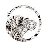 Bosquejo de la impresión del tatuaje en una camiseta Imágenes de archivo libres de regalías