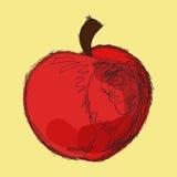 Bosquejo de la manzana roja ilustración del vector