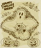 Bosquejo de la materia de Halloween Foto de archivo